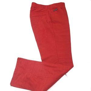 Dolce & Gabbana Women's Red Silk Trousers